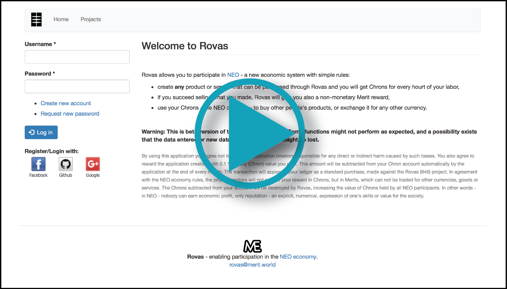 Video demonstrating the Rovas application
